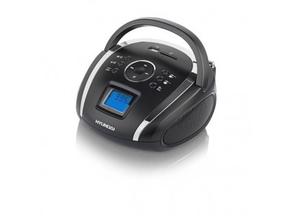 Radiopřijímač Hyundai TR 1088 SU3BS, MP3/USB/SD, černý/stříbrný