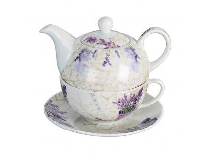 Porcelánová čajová souprava Levandule, 3 ks