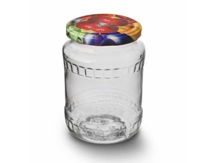 Zavařovací sklenice s víkem, 0,72 l