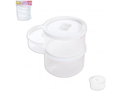 Náhradní plastová dóza s víkem k jogurtovači 125815, 3 ks