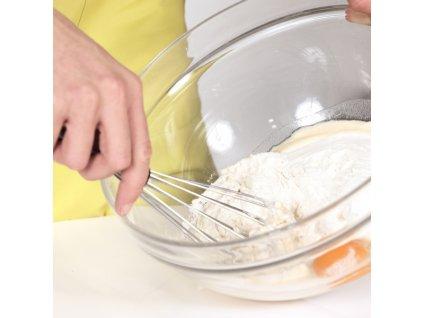 Nerezová kuchyňská metla na šlehání, délka 28 cm