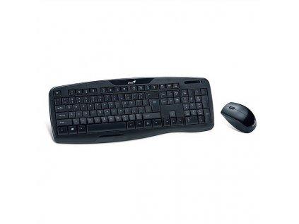 Klávesnice s myší Genius KB-8000X, CZ/SK  - černá