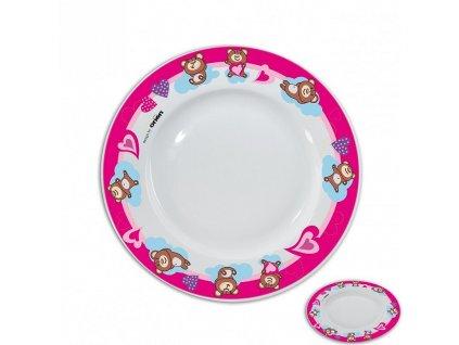 Porcelánový mělký talíř Medvídek, průměr 19 cm