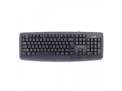 Klávesnice Genius KB-110X, PS2, CZ/SK - černá