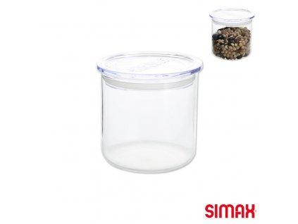 Skleněný zásobník na potraviny s víčkem, 0,5 l