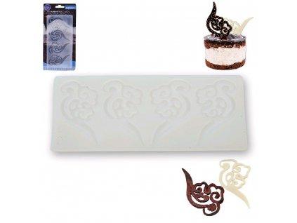 Silikonová forma na čokoládové ozdoby, 20,5 x 10 cm