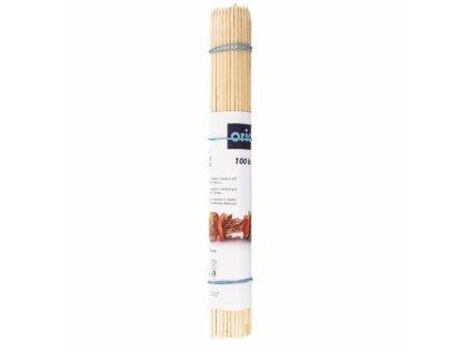 Dřevěné hrocené špejle délky 25 cm, 100 ks