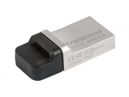 Flash USB Transcend JetFlash 880 16GB OTG USB 3.0 - kovový