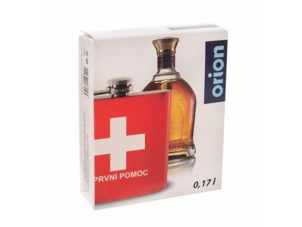 Nerezová kapesní láhev First Aid, 0,17 l