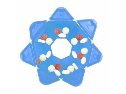 Plastový box na léky na 7 dní, průměr 7,5 cm