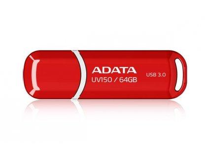 Flash USB ADATA UV150 64GB USB 3.0 - červený