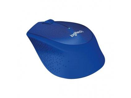 Myš Logitech Wireless Mouse M330 Silent Plus / optická / 3 tlačítka / 1000dpi - modrá