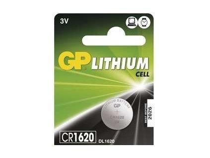 Baterie lithiová GP CR1620, blistr 1ks