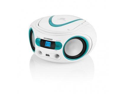 Radiopřijímač Hyundai TRC 533 AU3WBL s CD/MP3/USB, bílá/modrá