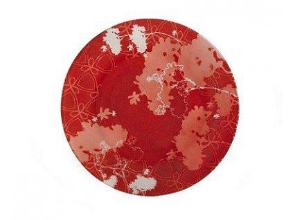 BANQUET Talíř skleněný mělký VALENTYNE 25,4 cm