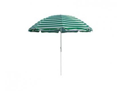 HAPPY GREEN Slunečník plážový 230 cm, zelené pruhy