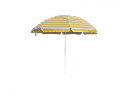 HAPPY GREEN Slunečník plážový 230 cm, žluté pruhy