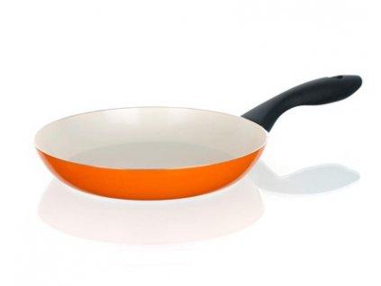 BANQUET Pánev s keramickým povrchem NATURA CERAMIA Arancia 20 cm, oranžová