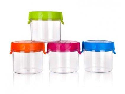 BANQUET Dóza plastová 0,7 l, mix barev