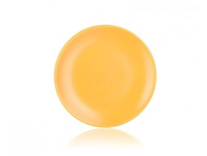 BANQUET Talíř keramický dezertní AMANDE 20 cm, žlutý mat