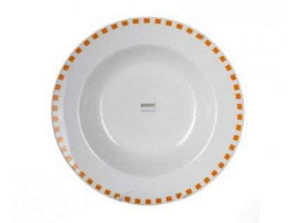 BANQUET Talíř porcelánový hluboký CUBITO Orange 21,6 cm
