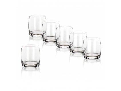 BANQUET CRYSTAL Sada sklenic na whisky LEONA 280 ml, 6 ks, OK