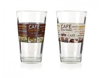 BANQUET Sklenice CAFE 455 ml, assort