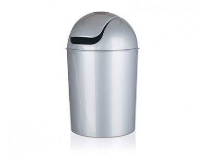BRILANZ Koš odpadkový PEGAS 25 l, mix barev bílá a stříbrná