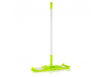BRILANZ Mop plochý žinylkový s teleskopickou tyčí 120 cm, světle zelený