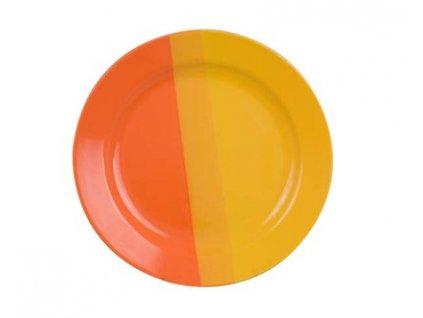 Mělký keramický talíř oranžovožlutý Banquet, 25 cm