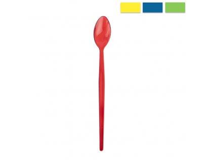 Plastová koktejlová lžička Lily délky 21,5 cm, 1 ks