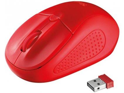 Myš Trust Primo Wireless / optická / 4 tlačítka / 1600dpi - červená