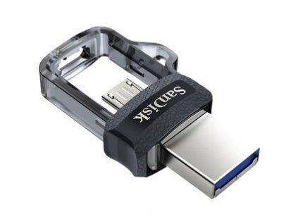 Flash USB Sandisk Ultra Dual m3.0 16GB OTG MicroUSB/USB 3.0 - černý