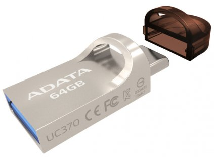Flash USB ADATA UC370 64GB OTG USB-C/USB 3.1 - zlatý