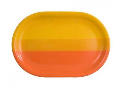 BANQUET Talíř keramický oválný 35,5 cm, oranžovožlutý