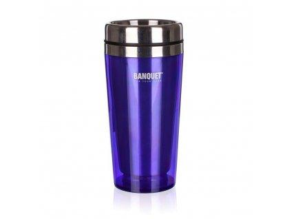 BANQUET Hrnek cestovní AVANZA 410 ml, fialová