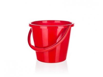 BRILANZ Kbelík plastový 10 l, červený
