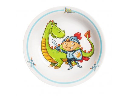 Talíř porc. hluboký dětský RYTÍŘ pr. 19 cm