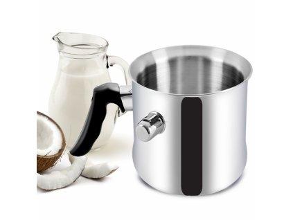 Nerezový mlékovar na indukci, objem 2 l