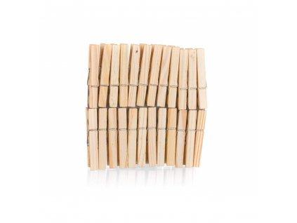 BRILANZ Sada dřevěných kolíčků na prádlo ECONOMY, 24 ks