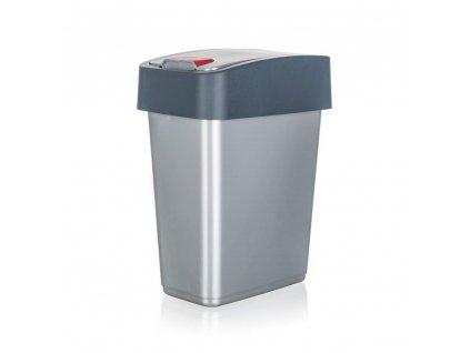 KEEEPER Koš odpadkový 10 l, 36,5 x 29,5 x 18 cm, šedý