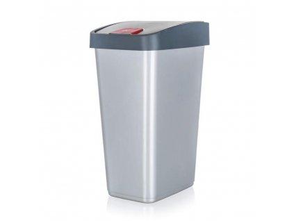 KEEEPER Koš odpadkový 45 l, 61,5 x 40 x 30 cm, šedý