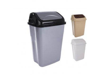 Odpadkový koš 50 l, kolíbka Vittario