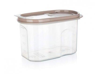 BANQUET Dóza plastová RIVA 1,2 l, hnědá