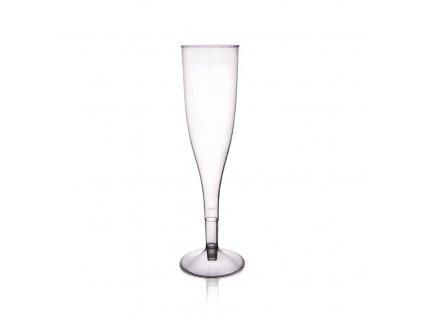 Plastový pohár na šampus, sada 6 ks