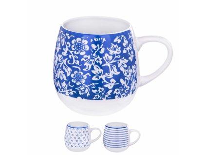Keramický hrnek na čaj modrý, 0,58 l