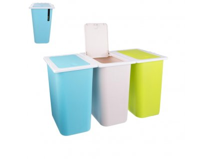 Sada odpadkových košů na tříděný odpad, 3 x 13 l