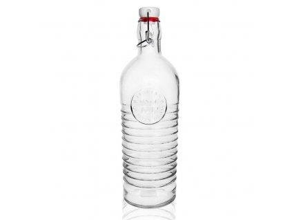 Láhev sklo CLIP uzávěr 1,1 l SAM
