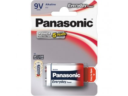 Baterie alkalická Panasonic Everyday Power 9V, 6LR61, blistr 1ks
