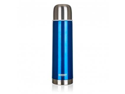 BANQUET Termoska nerezová AVANZA Blue 0,5 l